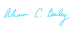 Alison Bailey's Signature